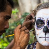 Heather Preparing for Day of the Dead