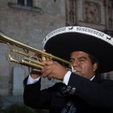 Mariachi at Dusk, Santo Domingo Church